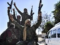 Боевики «сирийских демократических сил» в Ракке, Сирия