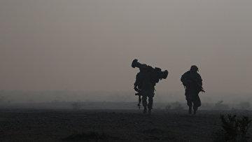 Солдаты пехотной бригады США