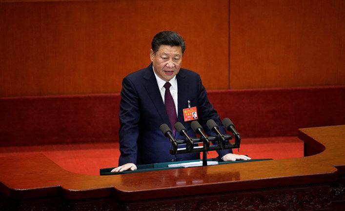c0d89fc89f1a Председатель КНР Си Цзиньпин на открытии 19-го съезда Коммунистической  партии Китая