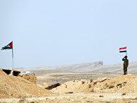 Блокпост на сирийско-ливанской границе в районе Каламун в Сирии. Архивное фото