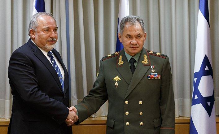 Встреча министра обороны РФ С. Шойгу с министром обороны Израиля А. Либерманом
