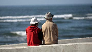 Пожилая пара в Навидаде, Чили