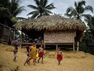 Жители деревни Пуесто-Индио в Колумбии