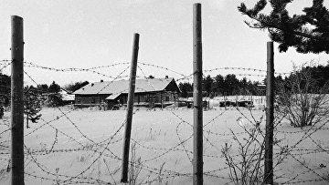 Территория концлагеря на острове Мудьюг