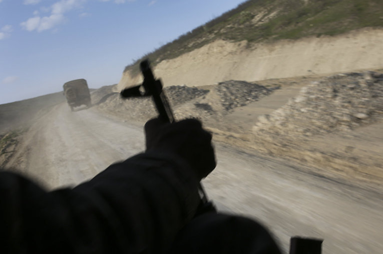 Армянский патруль в районе села Мадагис в Нагорном Карабахе