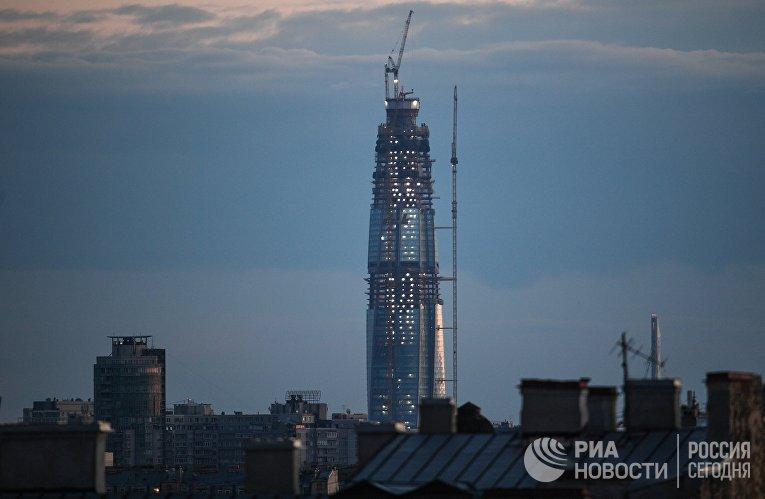 Строительство делового комплекса «Лахта-центр» в Санкт-Петербурге