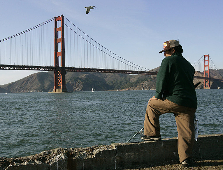Мост «Золотые Ворота» в Сан-Франциско, США