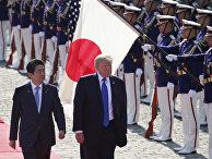 Президент США Дональд Трамп и премьер-министр Японии Синдзо Абэ в Токио, Япония. 6 ноября 2017