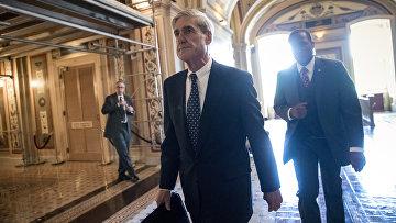 Юрист Роберт Мюллер после завершения слушаний по делу о вмешательстве России в предвыборную кампанию Дональда Трампа. 21 июня 2017