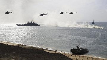 Военные учения ВМС РФ в Крыму
