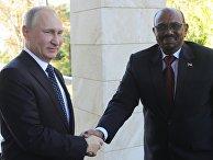 Президент РФ Владимир Путин и президент Судана Омар Башир во время встречи. 23 ноября 2017
