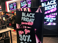 День распродаж «Черная пятница» в магазине в Нью-Йорке