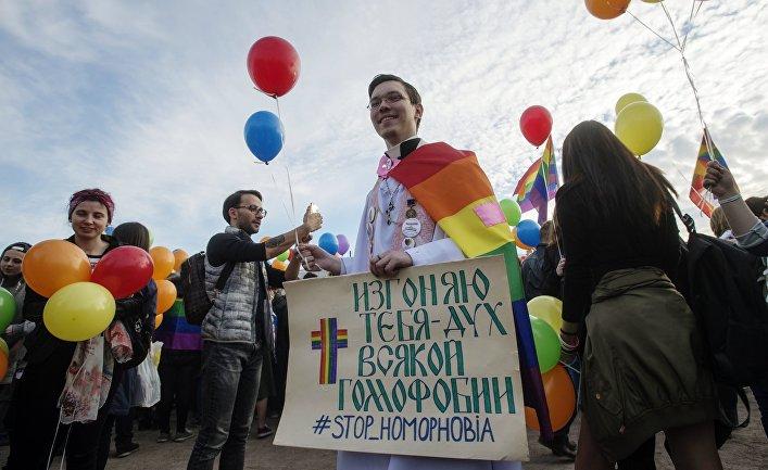 Акция «Радужный флешмоб» в Санкт-Петербурге