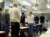 Ученики средней школы в Хельсинки, Финляндия