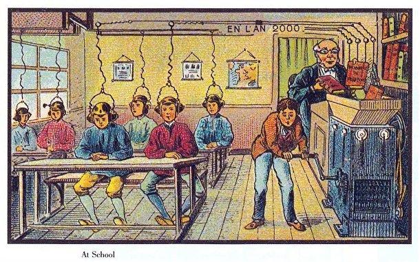 Карточка серии «Франция в 2000 году» — «Школа будущего»