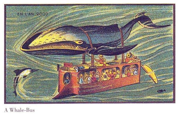 Карточка серии «Франция в 2000 году» — «Китовый подводный автобус»