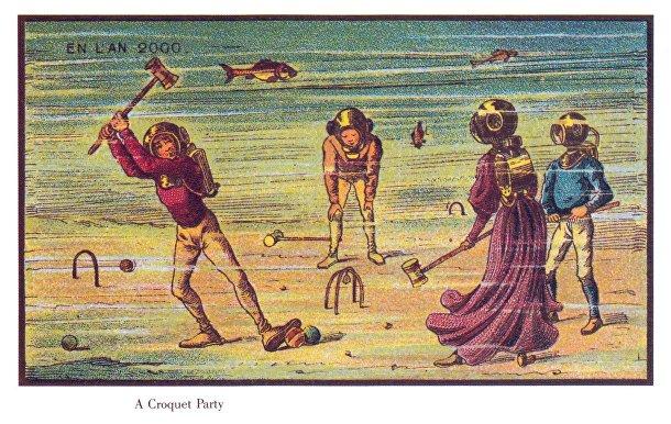 Карточка серии «Франция в 2000 году» — «Подводный крокет»