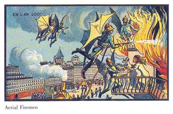 Карточка серии «Франция в 2000 году» — «Воздушные пожарные»