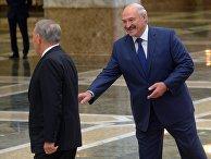Президент Белоруссии Александр Лукашенко и президент Казахстана Нурсултан Назарбаев