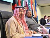 Министр энергетики Саудовской Аравии Халид аль-Фалих дает интервью в рамках 173-го заседания ОПЕК. 30 ноября 2017