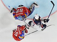 Матч группового этапа чемпионата мира по хоккею 2017 между сборными командами России и США