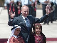 В.Путин посетил Палестинские территории