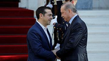 Премьер-министр Греции Алексис Ципрас и президент Турции Тайип Эрдоган