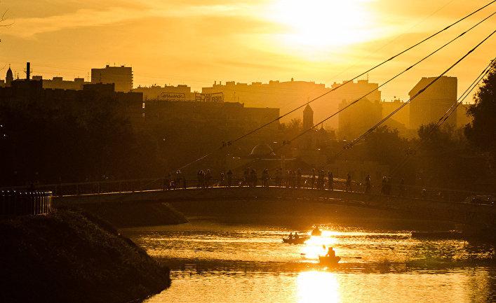 Закат в Харькове