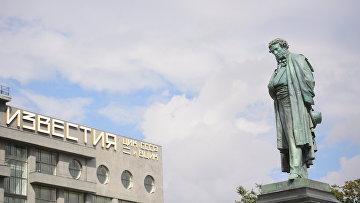 Памятник А.С. Пушкину на Пушкинской площади в Москве после реставрации
