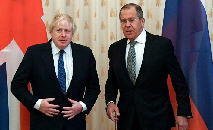 Встреча глав МИД РФ и Великобритании С. Лаврова и Б. Джонсона