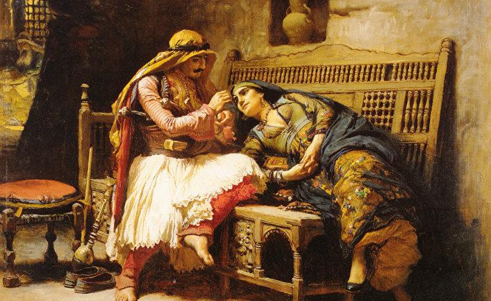 Картина Фредерика Артура Бриджмена «Королева разбойников»