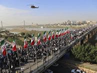 Участники демонстрации в поддержку правительства Ирана в городе Ахваз. 3 января 2017