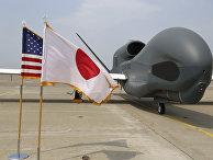 БПЛА Global Hawk на авиабазе в Японии