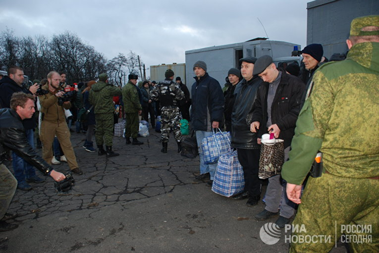 Обмен военнопленными между ДНР и Украиной в Донецкой области. 27 декабря 2017