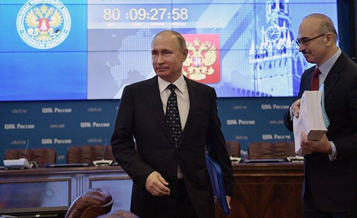 Президент РФ В. Путин подал в ЦИК документы для выдвижения кандидатом на выборах президента в 2018 году