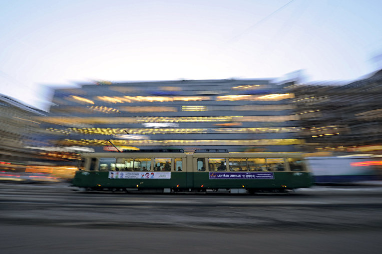 Трамвай в Хельсинки, Финляндия