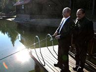Встреча премьер-министров России и Италии РФ Владимира Путина и Сильвио Берлускони
