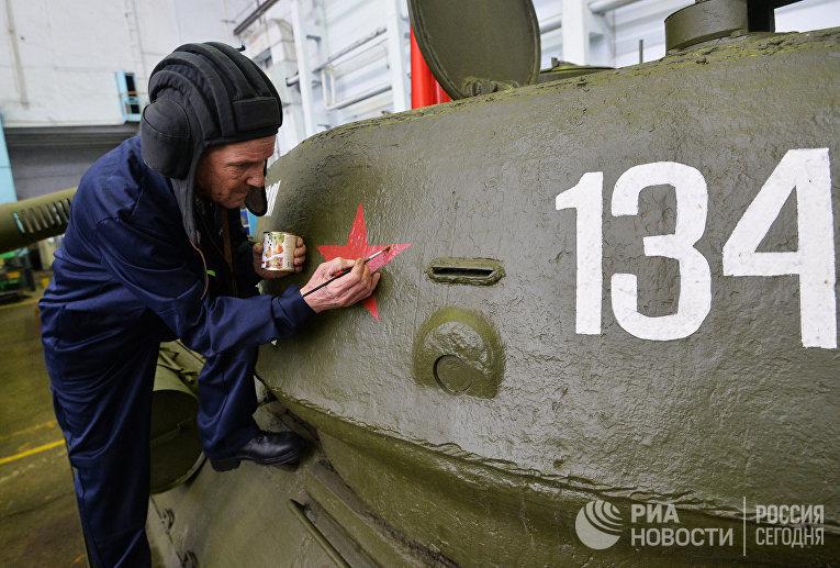 Танк Т-34 на Челябинском тракторном заводе