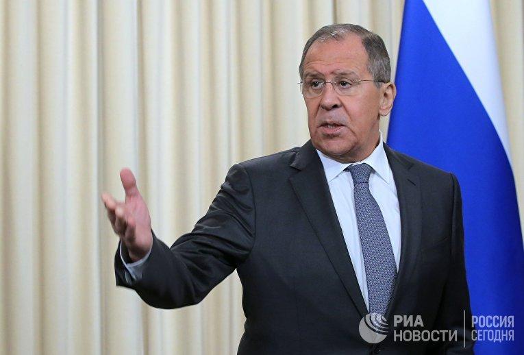 Министр иностранных дел РФ Сергей Лавров в Доме приемов МИД России
