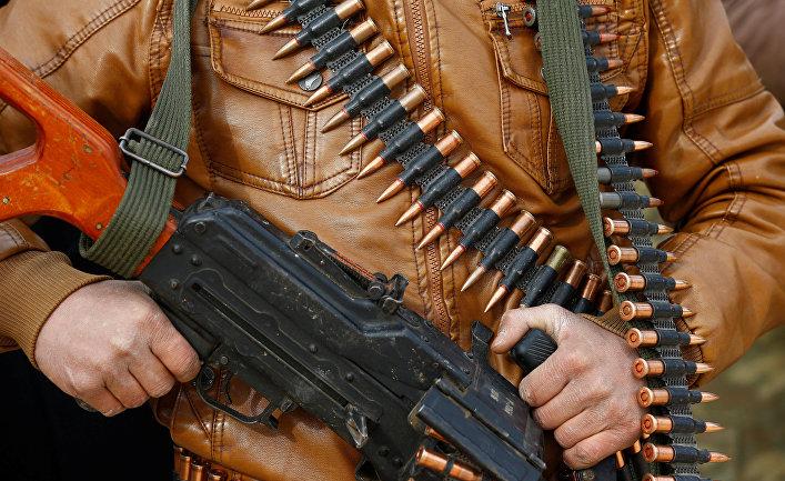 Поддерживаемые Турцией бойцы Свободной армии Сирии (ССА), в тренировочном лагере в Азазе, Сирия