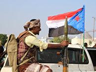 Участники антиправительственного протеста в Адене, Йемен