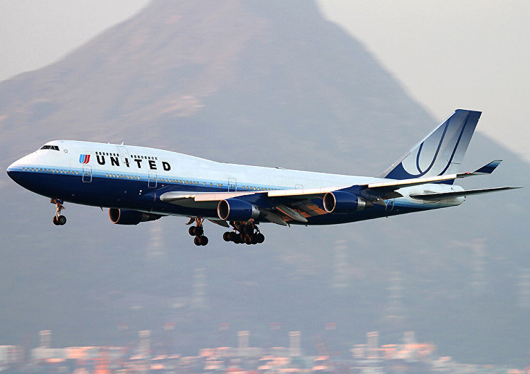 Боинг 747 авиакомпании «Юнайтед»