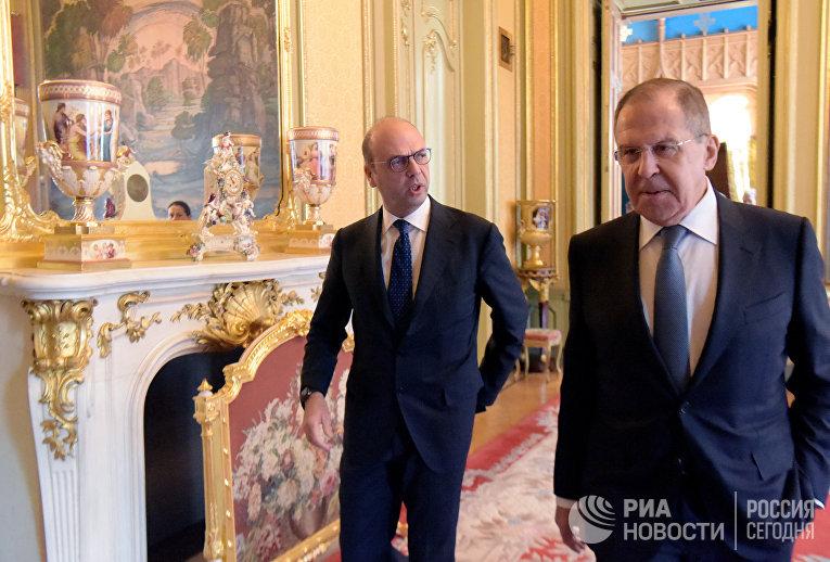 Встреча глав МИД РФ и Италии С. Лаврова и А. Альфано