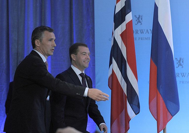 Президент РФ Д.Медведев на пресс-конференции по итогам российско-норвежских переговоров