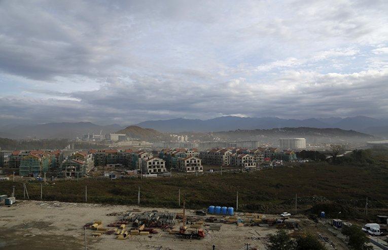 Строительство Олимпийской деревни в Сочи