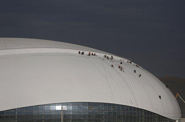 Крыша Ледового Дворца «Большой» в Сочи