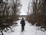 Военнослужащий ДНР в поселке Ясное Донецкой области