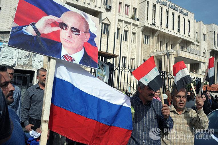 Митинг жителей сирийского города Латакия