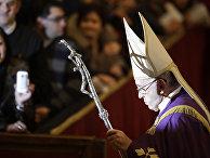 Папа Франциск проводит мессу в соборе Святого Петра в Ватикане