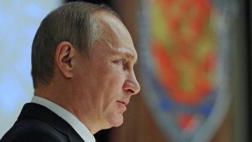 В.Путин принял участие в коллегии ФСБ